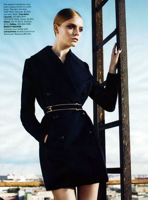 Harper's Bazaar March 2011 Editorial Yves Saint Laurent
