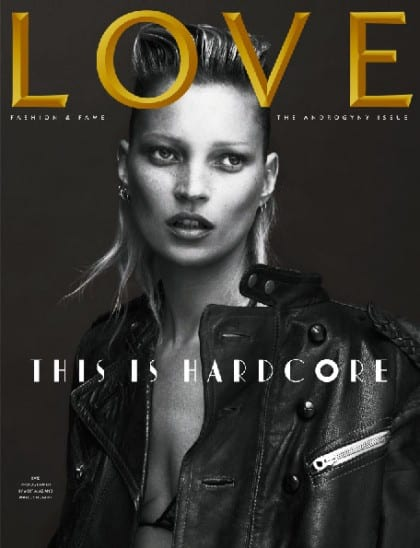 Kate Moss Love Magazine Cover Androgyny Issue