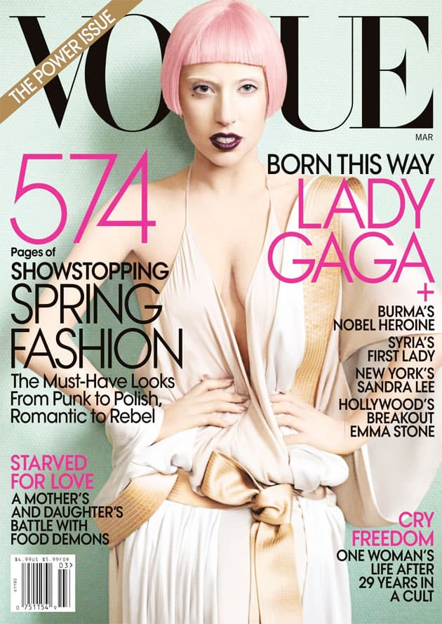 Lady Gaga Vogue March 2011 Cover