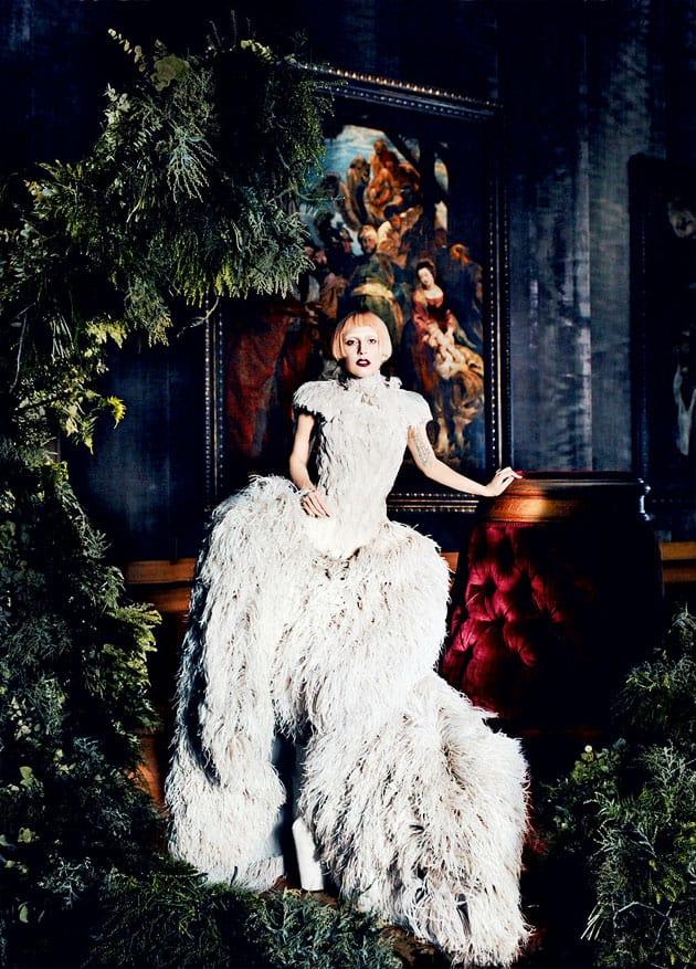 Lady Gaga Vogue March 2011 Editorial Alexander McQueen Dress