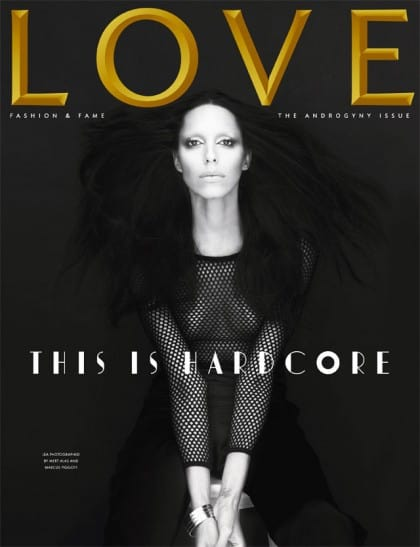 Lea T Love Magazine Cover Androgyny Issue