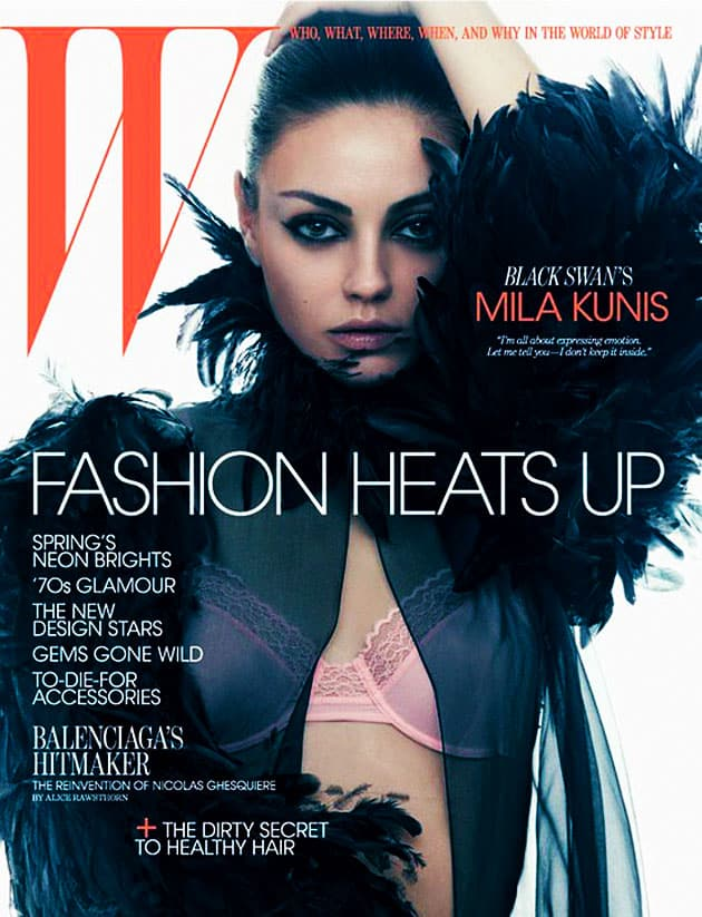 Mila Kunis W Magazine March 2011 Cover Wearing Chanel