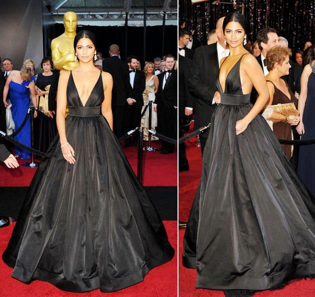 Oscars 2011 Red Carpet Camila Alves Wears Kaufman Franco