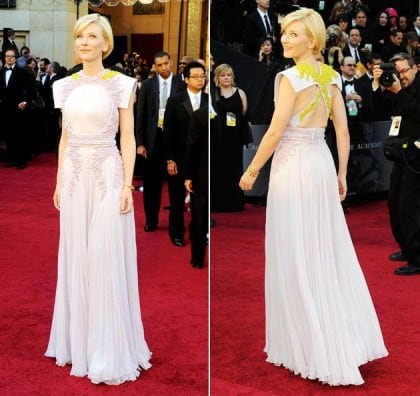 Oscars 2011 Red Carpet Cate Blanchett Wearing Givenchy Haure Couture Spring 2011