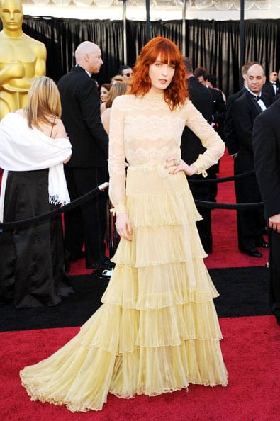 Oscars 2011 Red Carpet Florence Welch Wears Valentino