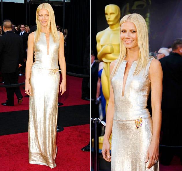 Oscars 2011 Red Carpet Gwyneth Paltrow Wears Calvin Klein