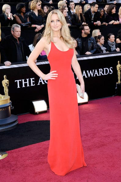 Oscars 2011 Red Carpet Jennifer Lawrence Calvin Klein Collection