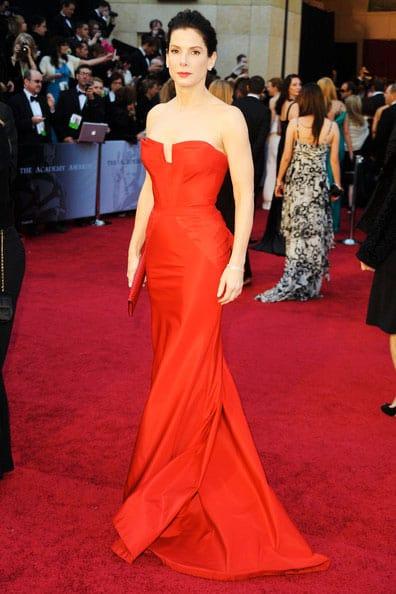 Oscars 2011 Red Carpet Sandra Bullock Wears Vera Wang