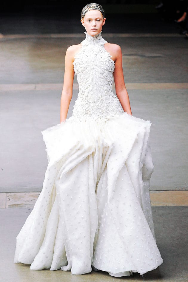 Alexander McQueen Fall 2011 White Wedding Dress