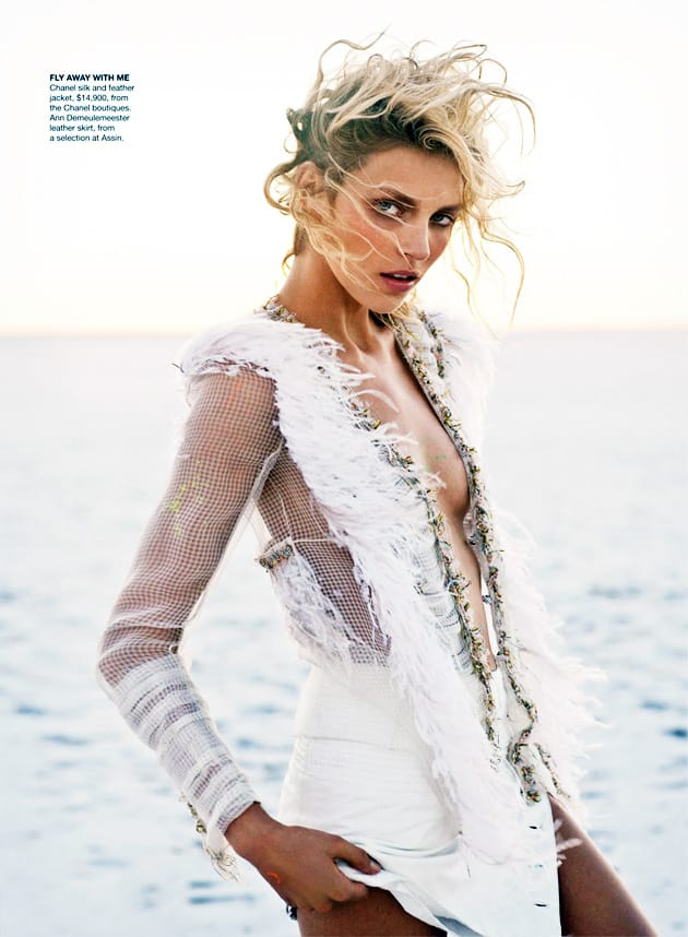 Anja Rubic Vogue Australia April 2011 Edge Of Forever Chanel Chanel Silk Jacket