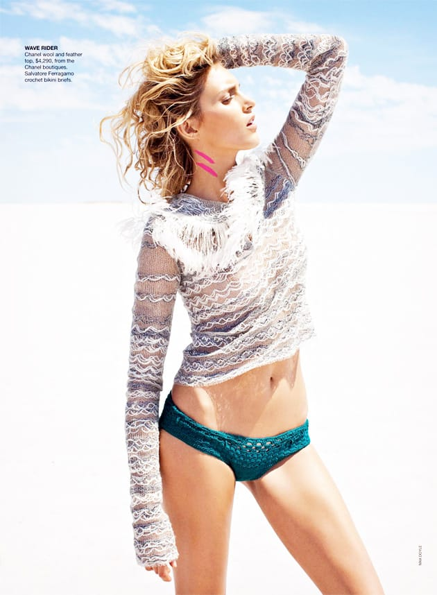 Anja Rubic Vogue Australia April 2011 Edge Of Forever Chanel Wool Top