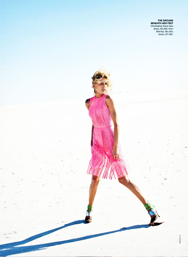 Anja Rubic Vogue Australia April 2011 Edge Of Forever Christopher Kane Pink Neon Dress