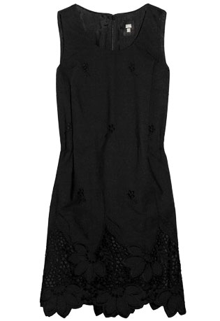 Anna Sui For TheOutnet Broderie Anglais Shift LBD