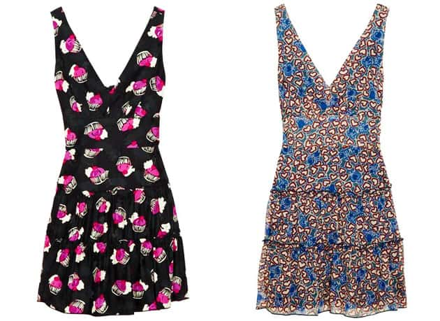 Anna Sui For TheOutnet Deep V-Neck Cupcake Print Dress