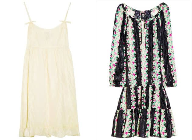 Anna Sui For TheOutnet Micro Floral Print Drop Waist Tunic