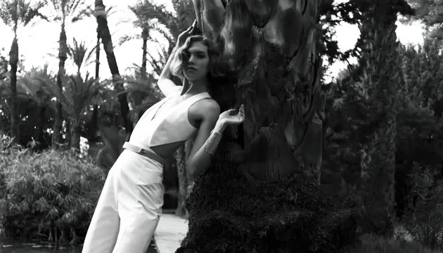 Arizona Muse In Yves Saint Laurent Spring 2011 Campaign Video - White Jumpsuit