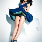 Crystal Renn In Vogue Mexico April 2011 Wearing Blue Dress