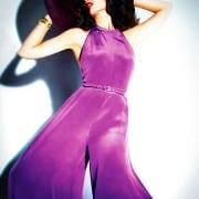 Crystal Renn In Vogue Mexico April 2011 Wearing Lavender Jumpsuit
