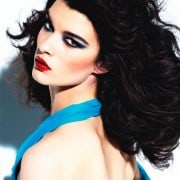 Crystal Renn In Vogue Mexico April 2011 Wearing Turquoise Halter