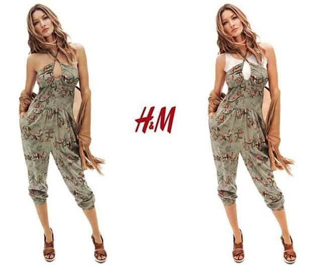 Gisele Bundchen H&M Spring 2011 Campaign Censored In Dubai - Jumsuit
