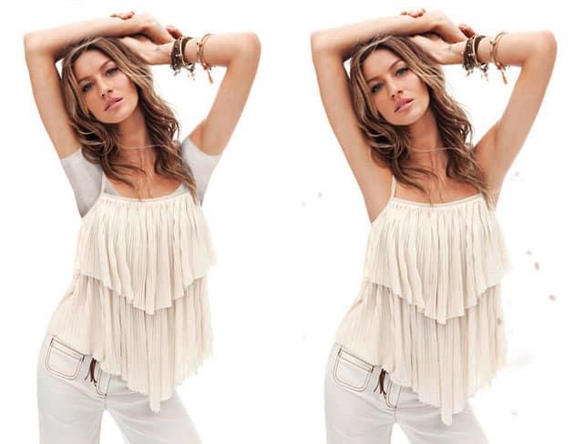 Gisele Bundchen H&M Spring 2011 Campaign Censored In Dubai - Top