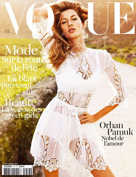 Gisele Bundchen On Vogue Paris April 2011 Cover In Dolce & Gabbana
