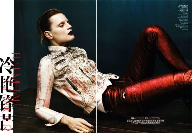 Guinevere Van In Seenus Vogue China April 2011 Editorial Full Metal Jacket Wearing Alexander Wang