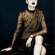 Guinevere Van In Seenus Vogue China April 2011 Editorial Full Metal Jacket Wearing Long-Sleeve Rodarte