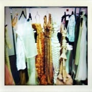 Lara Stone's W April 2011 Couture Editorial Backstage Haute Couture Dress Racks