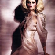 Lara Stone In W April 2011 Couture Editorial Wearing Francesco Scognamiglio