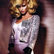 Lara Stone In W April 2011 Couture Editorial Wearing Giorgio Armani Prive