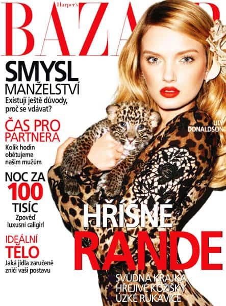 Lily Donaldson On Harper's Bazaar Czech Republic February 2011 Cover In Dolce & Gabbana