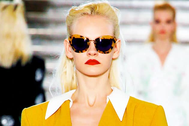 Miu Miu Fall 2011 Blue Tortois Tall Cateye Sunglasses