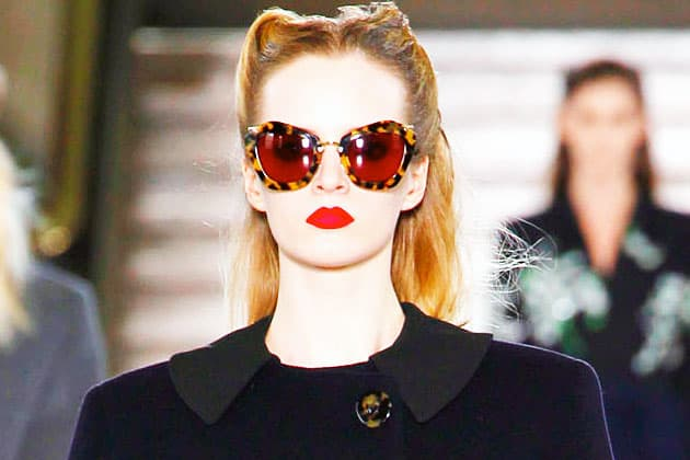 Miu Miu Fall 2011 Brown Tortois Tall Cateye Sunglasses
