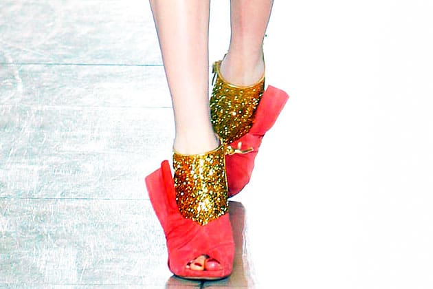 Miu Miu Fall 2011 Gold Glitter Shoes