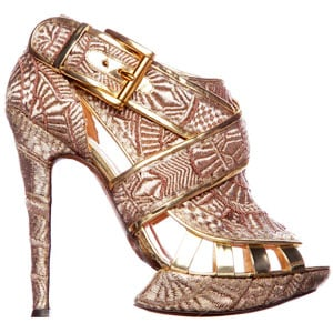 Nicholas Kirkwood Fall 2011 Gold Shoe