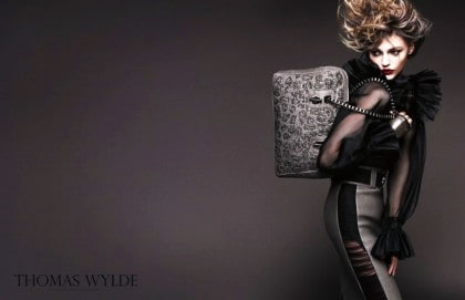 Sasha Pivovarova In Thomas Wylde Spring 2011 Campaign - Sheer Blouse