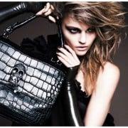 Sasha Pivovarova In Thomas Wylde Spring 2011 Campaign - Skull Bag