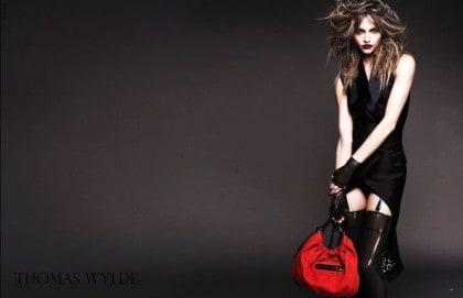 Sasha Pivovarova In Thomas Wylde Spring 2011 Campaign - Tuxedo Vest Dress