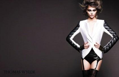 Sasha Pivovarova In Thomas Wylde Spring 2011 Campaign - White Jacket