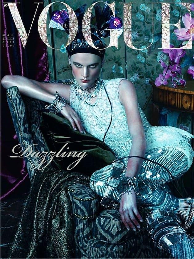 Saskia de Brauw Vogue Italia March 2011 Cover