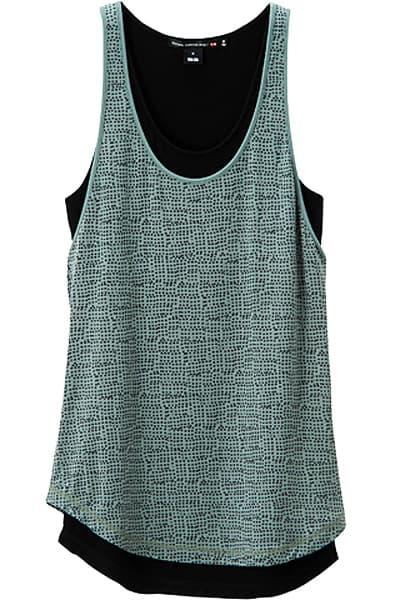 Vena Cava For Uniqlo Collection Green Micro Print Tank Top