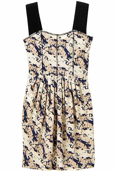 Vena Cava For Uniqlo Collection Print Nude Dress