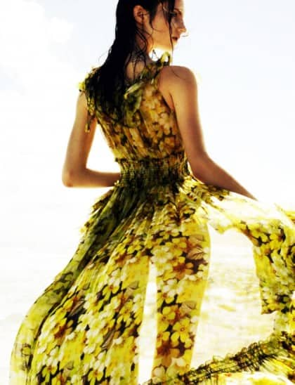 Wonderland March 2011 Banana Editorial Yellow Floral Print D&G