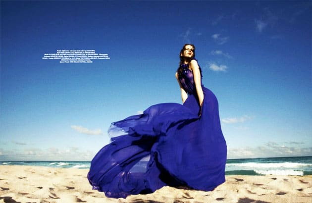 Wonderland March 2011 Banana Editorial Purple Jason Wu