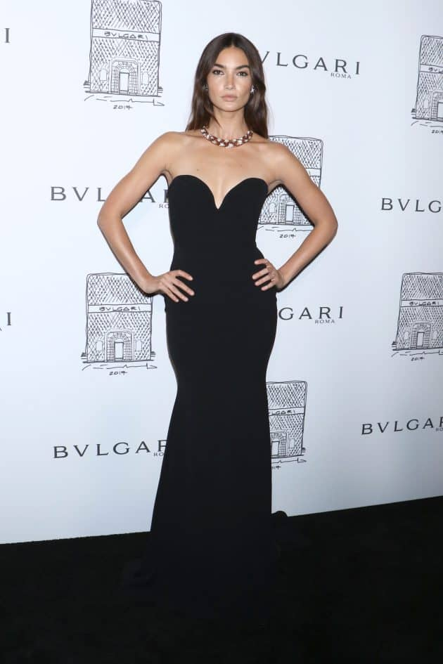 Lily Aldridge, Bulgari flagship store opening celebration, New York. Photo by Gregory Pace/REX/Shutterstock