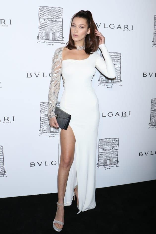 Bella Hadid, Bulgari flagship store opening celebration, New York. Photo by Gregory Pace/REX/Shutterstock