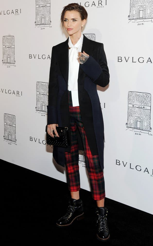 Ruby Rose, Bulgari flagship store opening celebration, Arrivals, New York. Photo by Broadimage/REX/Shutterstock