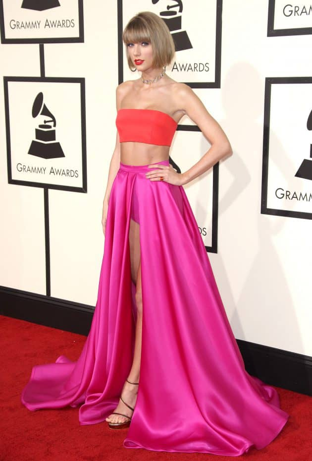 Taylor Swift at 58th Annual Grammys Pic: Jim Smeal/REX/Shutterstock (5587172cp)