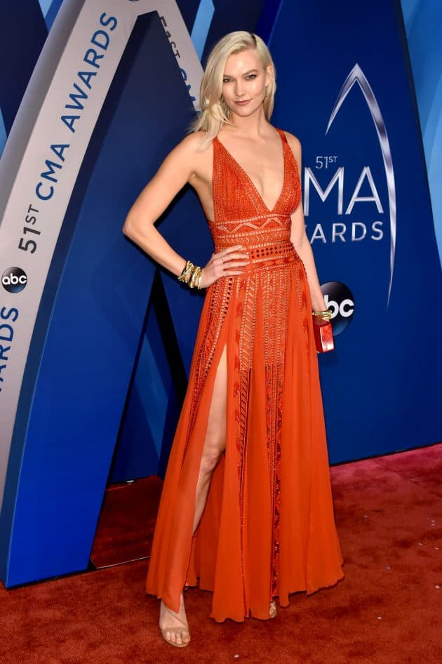 Karlie Kloss at the 51st Annual CMA's, Pic by: Andrew H. Walker/REX/Shutterstock (9212749ga)